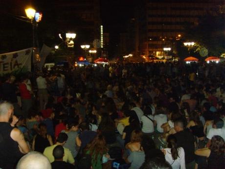 Rådslag på Syntagmatorget